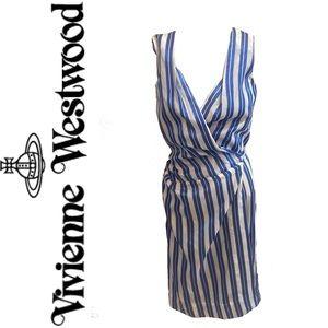 VIVIENNE WESTWOOD red label striped wrap dress